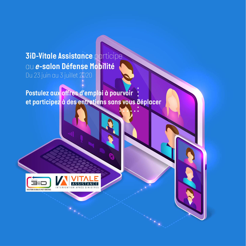 3iD-Vitale Assistance participe au e-salon Défense Mobilité du 23 juin au 3 juillet 2020
