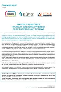 Communiqué : 3iD-Vitale Assistance poursuit son développement en se rapprochant de Nüwa